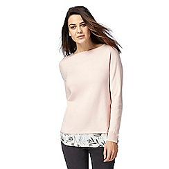 The Collection - Pale pink 2-in-1 jumper