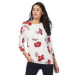 The Collection - White floral print jumper