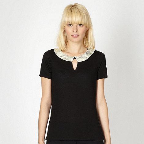 H! by Henry Holland - Designer black studded collar top