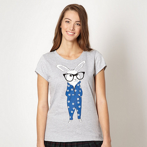 H! by Henry Holland - Designer grey rabbit in a jumpsuit t-shirt