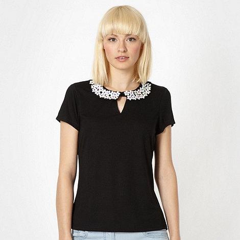 H! by Henry Holland - Designer black daisy collar top