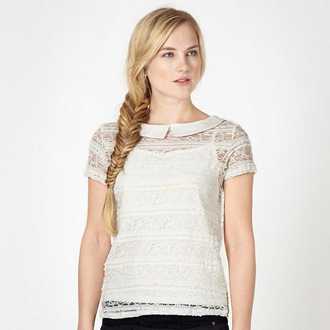 H! by Henry Holland - Designer cream pleated lace top