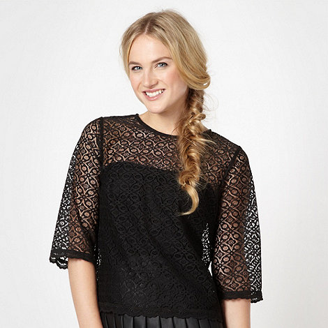 H! by Henry Holland - Designer black cropped lace top