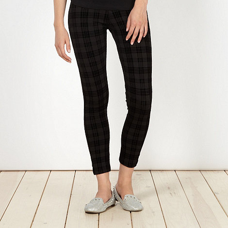H! by Henry Holland - Designer black tartan leggings