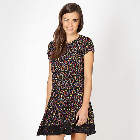 H! by Henry Holland - Designer black ditsy paisley dress