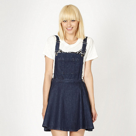 H! by Henry Holland - Designer blue denim pinafore dress