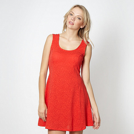 H! by Henry Holland - Designer red textured skater dress