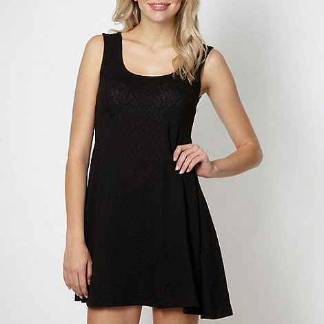 H! by Henry Holland - Designer black textured skater dress