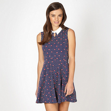 H! by Henry Holland - Navy spot print dress