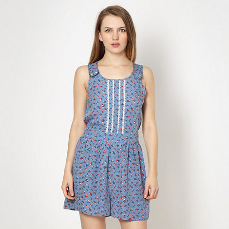 H! by Henry Holland - Designer blue cherry playsuit