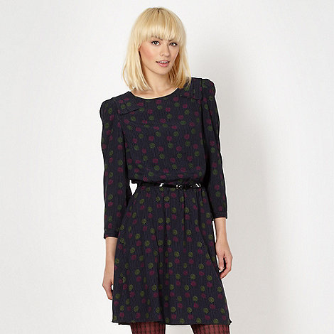 H! by Henry Holland - Designer navy spotted dress