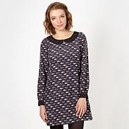 Designer navy car pattern tunic