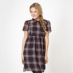 H! by Henry Holland - Designer tartan chiffon dress