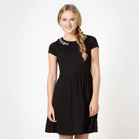 H! by Henry Holland - Designer black embellished skater dress