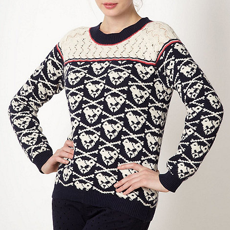 H! by Henry Holland - Designer cream 'Bear Bones' jumper