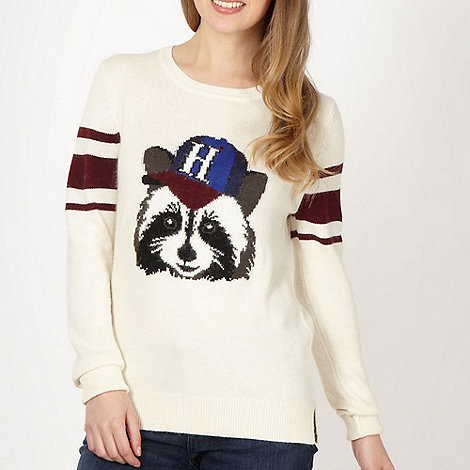 H! by Henry Holland - Designer cream +Roger Racoon+ jumper
