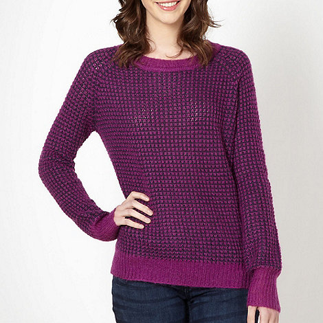 H! by Henry Holland - Designer purple +Popcorn Stitch+ jumper