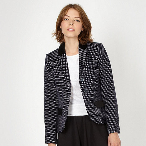 H! by Henry Holland - Designer navy polka dot jacket