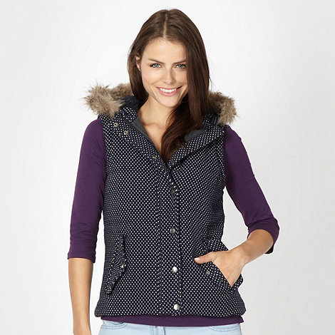 H! by Henry Holland - Designer navy polka dot gilet