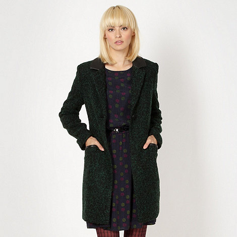 H! by Henry Holland - Designer green flecked coat