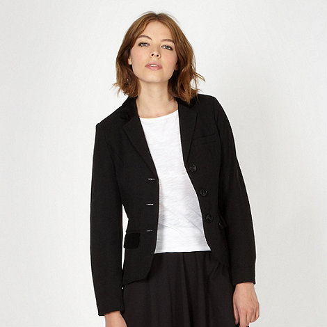 H! by Henry Holland - Designer black textured jacket