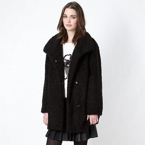H! by Henry Holland - Designer black faux fur coat