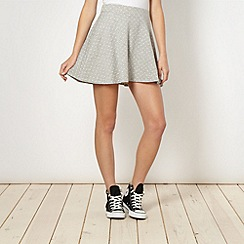 H! by Henry Holland - Designer grey spotted skater skirt