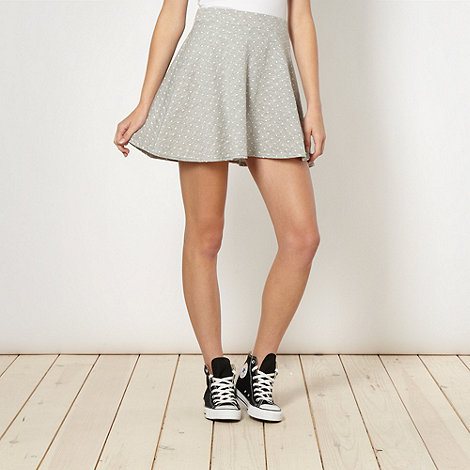 H! by Henry Holland - Designer grey spotted skater skirt