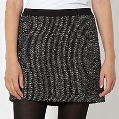 H! by Henry Holland - Designer grey tweed skirt