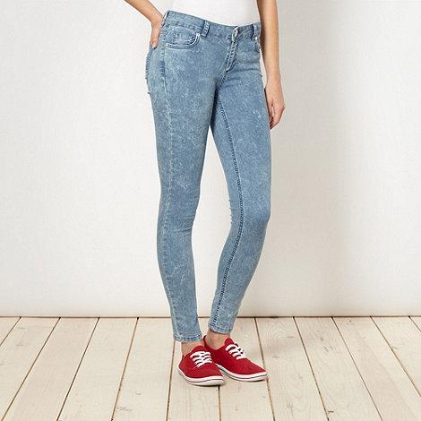 H! by Henry Holland - Designer light blue acid wash skinny jeans