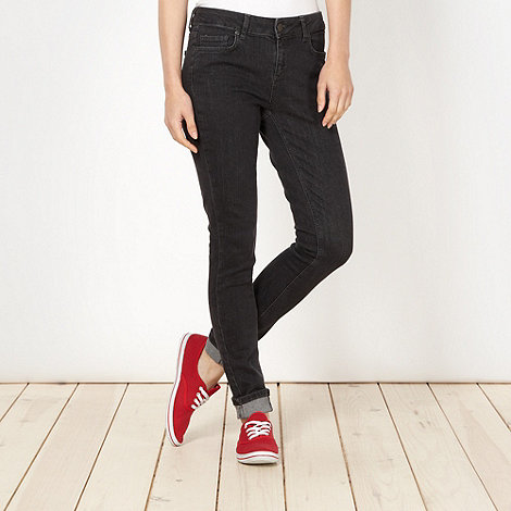 H! by Henry Holland - Designer black washed skinny jeans