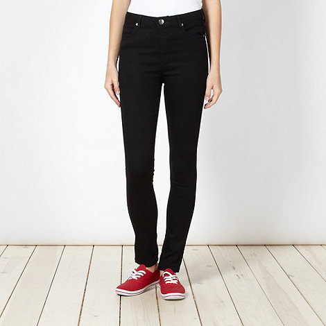 H! by Henry Holland - Designer black high waisted skinny jeans