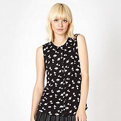 H! by Henry Holland - Designer black rose patterned shirt