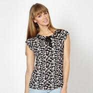 Designer black floral top