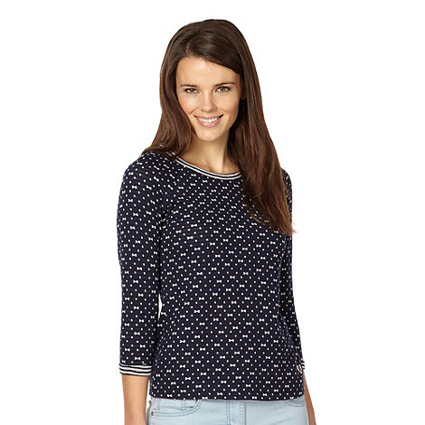 H! by Henry Holland - Designer navy bow spotted top