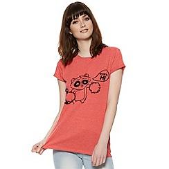 H! by Henry Holland - Designer red cheerleading raccoon print t-shirt