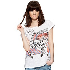 H! by Henry Holland - Designer white tiger print t-shirt
