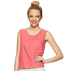 H! by Henry Holland - Designer pink broidery shell top