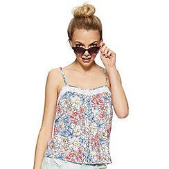 H! by Henry Holland - Designer tattoo print floral cami