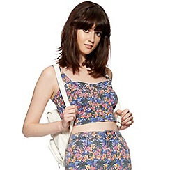 H! by Henry Holland - Designer flamingo print denim bralet