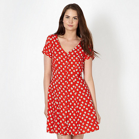 H! by Henry Holland - Designer red daisy print dress