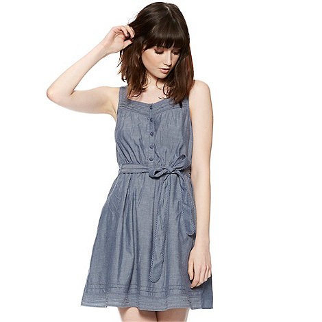 H! by Henry Holland - Designer blue cotton chambray dress