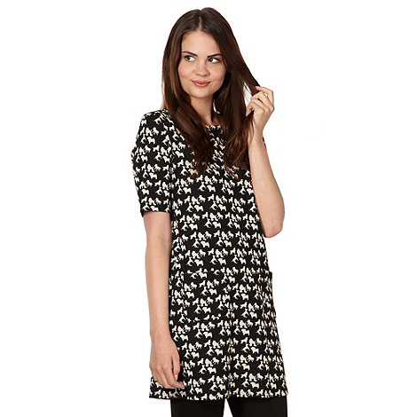 H! by Henry Holland - Designer black dog patterned tunic