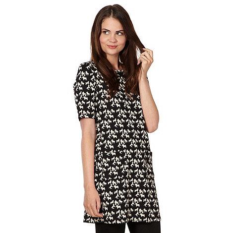 H! by Henry Holland - Designer black dog patterned tunic