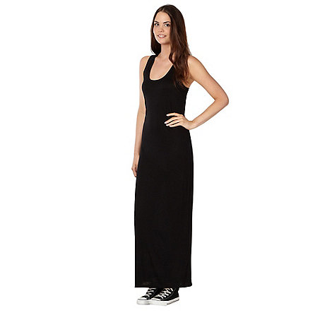 H! by Henry Holland - Designer black lace trim maxi dress