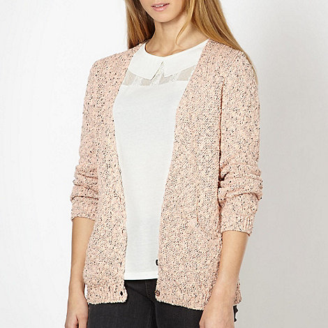 H! by Henry Holland - Designer pink flecked knitted cardigan
