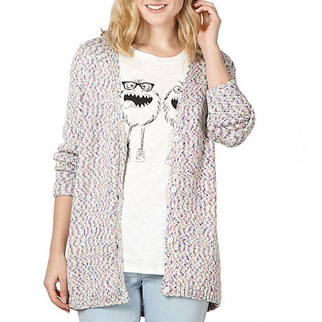 H! by Henry Holland - Designer purple multi flecked cardigan