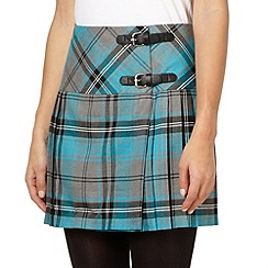 H! by Henry Holland - Designer grey pleat checked kilt