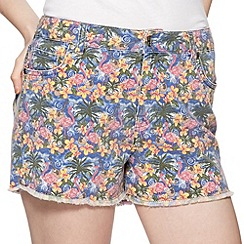 H! by Henry Holland - Designer flamingo print denim shorts