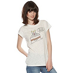H! by Henry Holland - Designer white cotton talking cake t-shirt
